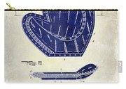 1910 Baseball Patent Drawing 2 Tone Carry-all Pouch