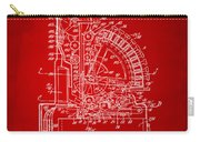 1910 Cash Register Patent Red Carry-all Pouch