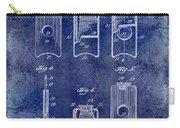 1910 Cigar Cutter Patent Drawing Blue Carry-all Pouch