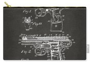 1911 Automatic Firearm Patent Artwork - Gray Carry-all Pouch