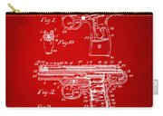 1911 Automatic Firearm Patent Artwork - Red Carry-all Pouch