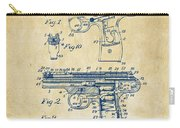 1911 Automatic Firearm Patent Artwork - Vintage Carry-all Pouch by Nikki Marie Smith