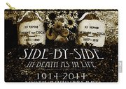 1914 - 2014 Side By Side - In Death As In Life Carry-all Pouch