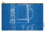 1914 Beer Stein Patent Artwork - Blueprint Carry-all Pouch
