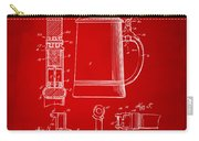 1914 Beer Stein Patent Artwork - Red Carry-all Pouch by Nikki Marie Smith