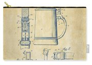1914 Beer Stein Patent Artwork - Vintage Carry-all Pouch