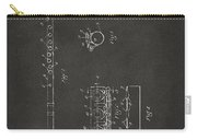 1914 Flute Patent - Gray Carry-all Pouch