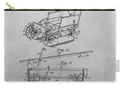 1914 Go Cart Patent Drawing Carry-all Pouch