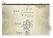 1915 Billiard Cue Patent Drawing  Carry-all Pouch