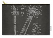 1915 Wrench Patent Artwork - Gray Carry-all Pouch