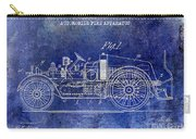 1916 Automobile Fire Apparatus Patent Drawing Lt Blue Carry-all Pouch