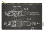 1917 Glenn Curtiss Aeroplane Patent Artwork 2 - Gray Carry-all Pouch