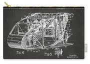 1917 Glenn Curtiss Aeroplane Patent Artwork 3 - Gray Carry-all Pouch