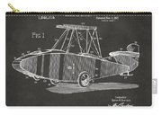 1917 Glenn Curtiss Aeroplane Patent Artwork - Gray Carry-all Pouch by Nikki Marie Smith