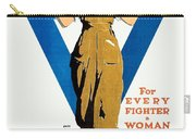 1918 - Ywca Patriotic Poster - World War One - Color Carry-all Pouch