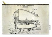 1919 Airship Patent Drawing Carry-all Pouch