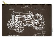 1919 Henry Ford Tractor Patent Espresso Carry-all Pouch by Nikki Marie Smith