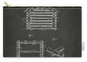 1920 Lincoln Log Cabin Patent Artwork - Gray Carry-all Pouch by Nikki Marie Smith