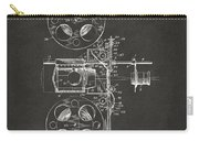 1920 Motion Picture Machine Patent Gray Carry-all Pouch