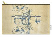 1920 Motion Picture Machine Patent Vintage Carry-all Pouch