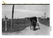 1920s 1930s Amish Man Driving Buggy Carry-all Pouch