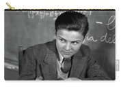 1920s 1930s Boy At Desk In Classroom Carry-all Pouch