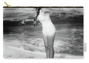 1920s Woman Wearing Bathing Suit & Head Carry-all Pouch