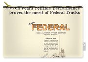 1921 - Federal Truck Advertisement - Color Carry-all Pouch