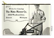 1921 - Moto Mower Lawnmower Advertisement Carry-all Pouch