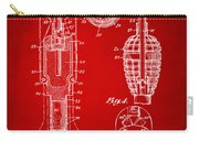 1921 Explosive Missle Patent Minimal Red Carry-all Pouch