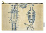 1921 Explosive Missle Patent Vintage Carry-all Pouch by Nikki Marie Smith
