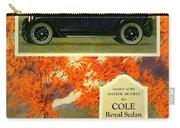 1923 - Cole Royal Sedan - Advertisement - Color Carry-all Pouch