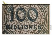 1923 100 Million Mark German Stamp Carry-all Pouch