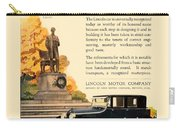 1924 - Lincoln Automobile - Color Carry-all Pouch