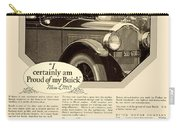 1925 - Buick Automobile Advertisement Carry-all Pouch