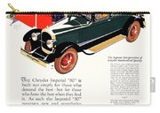 1926 - Chrysler Imperial Convertible Model 80 Automobile Advertisement - Color Carry-all Pouch