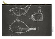 1926 Golf Club Patent Artwork - Gray Carry-all Pouch