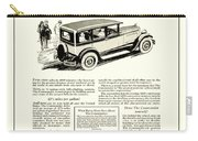 1927 - Studebaker Commander Automobile Advertisement Carry-all Pouch