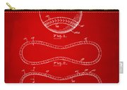1928 Baseball Patent Artwork Red Carry-all Pouch