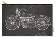 1928 Harley Motorcycle Patent Artwork - Gray Carry-all Pouch by Nikki Marie Smith