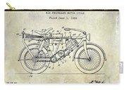 1928 Motorcycle Patent Drawing Carry-all Pouch