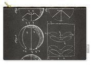 1929 Basketball Patent Artwork - Gray Carry-all Pouch