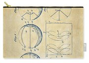 1929 Basketball Patent Artwork - Vintage Carry-all Pouch