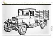 1929 Chevy Truck 1 Ton Stake Body Drawing Carry-all Pouch