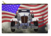 1929 Cord 6-29 Cabriolet Antique Car With American Flag Carry-all Pouch
