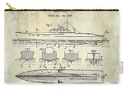 1930 Ship's Hull Patent Drawing Carry-all Pouch
