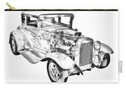1930 Model A Custom Hot Rod Illustration Carry-all Pouch