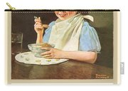 1930 - Post Grape Nuts Cereal Advertisement - Norman Rockwell - Color Carry-all Pouch
