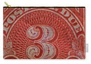 1930 Three Cents Postage Due Stamp Carry-all Pouch