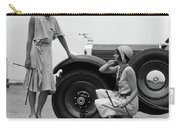 1930s Two Women Confront An Automobile Carry-all Pouch